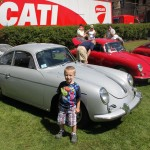 My son Nate with my cousins 356 Coupe